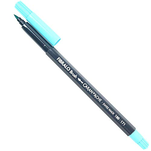 Caneta Caran D´Ache Aquarelável Fibralo Brush Azul Claro 171
