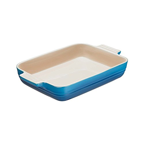 Le Creuset Stoneware 10-1/2-Inch by 7-Inch Rectangular Dish, Marseille - Marseille Rectangular Dish
