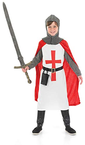 Kids Crusader Knight Boys Costume Chainmail Medieval Armour