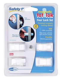 Safety 1st Magnetic Tot Lok Four Lock Set  Four Locks