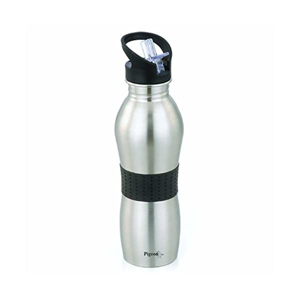 Pigeon Playboy Sport Water Bottle (700ml, Colour May Vary), Stainless Steel, Set of 1