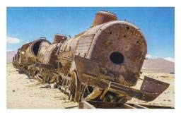 ormat, Rusty Old Abandoned Steam Train Locomotive Cemetery Railroad Wreck Picture Print, Decorative Polyester Floor Mat with Non-Skid Backing, 30 W X 18 L Inches, Blue Brown ()