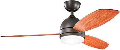Kichler Lighting 330002OZ Vassar LED Ceiling Fan with Light, 52