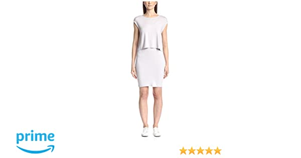 Three Dots Womens 2-Fer Tank Dress with Keyhole