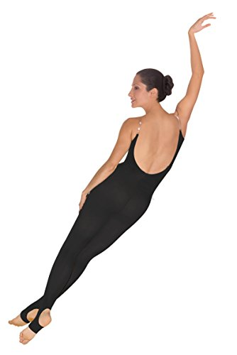 Body Wrappers A91 TotalSTRETCH Convertible Foot Camisole Body Tights, Black, Large/XL (Footless Unitard)