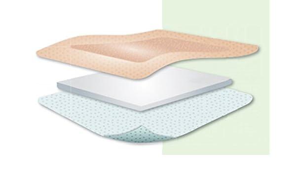 Apósito acolchado de silicona cuadrado sin bordes Kliniderm, 5 x 5 cm: Amazon.es: Salud y cuidado personal