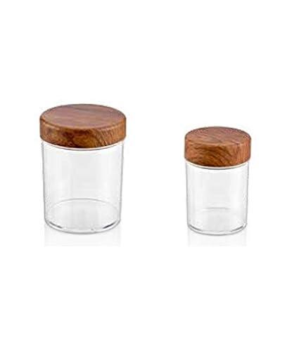 origin-AL Home & Style Set di 2 barattoli Rotondi in plastica ...