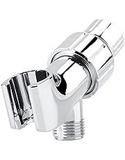 Shower Head Bracket, Shower Arm Mount Chrome Finish Universal Head Holder, Adjustable Bracket to Handheld Shower Head.