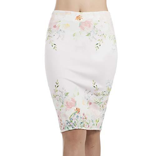 Summer Split Bag Hip Skirt Print Skirt high Waist Slim one Step Skirt Skirt BZQ022,Color,M