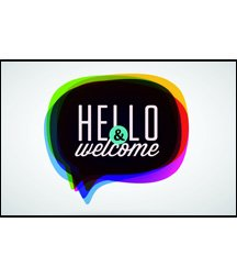 Postcards - Attendance - All Ages - Hello & Welcome! (Pkg. of 25) ... (Kids Welcome Postcards)