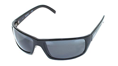 Kenneth Cole Reaction Sunglass Black Plastic Fashion Rectangle, Smoke Lens KC1072 B5