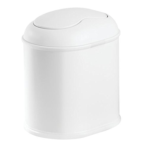 white bathroom trash can with lid - 5