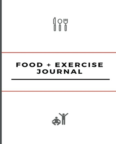 "Food and Exercise Journal: 7.5"" x 9.25"", Undated 100 page journal for 100 days of food and exercise tracking, for weight loss, allergies, and health by Health Journals, Diet and Fitness"