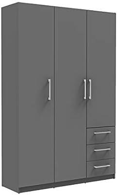 3 Door Wardrobe 3 Shelves 3 Drawers