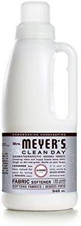 Mrs. Meyer's Clean Day Liquid Fabric Softener, Cruelty Free Formula Infused with Essential Oils, Paraben Free,