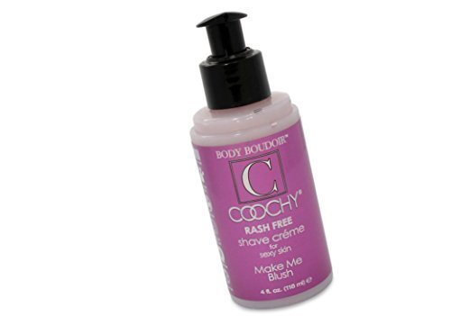 - Coochy Water Based Shave Cream Skin Protection Make Me Blush (Safe for All Body Parts Including Face and Intimate Areas) - Size 4 Oz