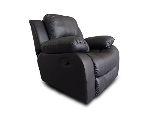 (Bonded Leather Recliner Chair - Overstuffed)