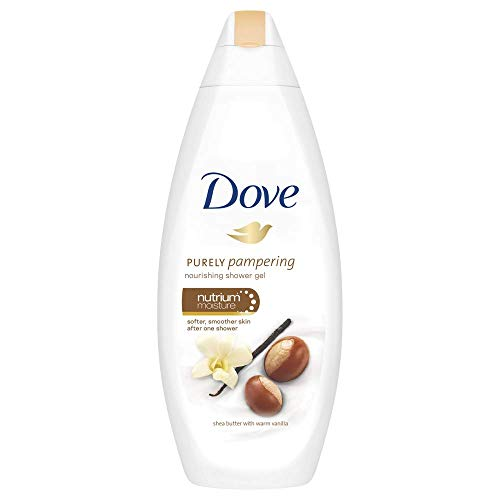 - Dove Shea Butter w/Warm Vanilla Nourishing Shower Gel - 3 Pack x 25.36 Fl.Oz / 750 mL Ea
