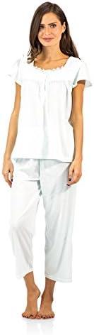 Casual Nights Women's Pintucked Capri Pajama