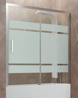 Pare Baignoire En Niche Aktual En 2 Panneaux Fixe Et Coulissant Hauteur 150 Cm Verre Transparent 8 Mm Profile En Aluminium Chrome Amazon Fr Bricolage