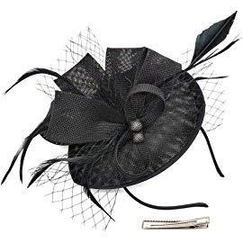 WS Women Girls Fascinators Hat Cocktail Wedding Clips Derby Pillbox Hairpins