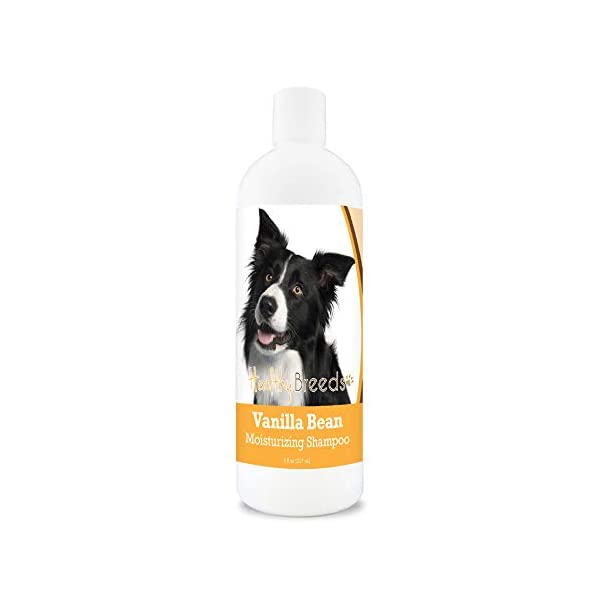 Healthy Breeds Vanilla Bean Shampoo with Special Conditioning Formula for a Shiny Luster on Coat. Vanilla Fragrance 8oz 1