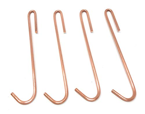 Copper Pot Rack Hooks Made from Heavy-Duty Solid Copper for Hanging Kitchen Pots & Pans, Clothes or Decor