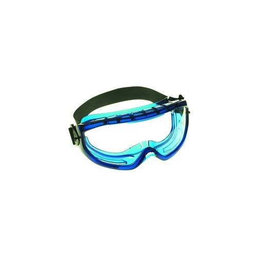 Frame Clear Xtr Lens - Kimberly-Clark 18624 V80 Monogoggle XTR OTG Safety Goggles, Clear Anti-Fog Lens with Blue Frame