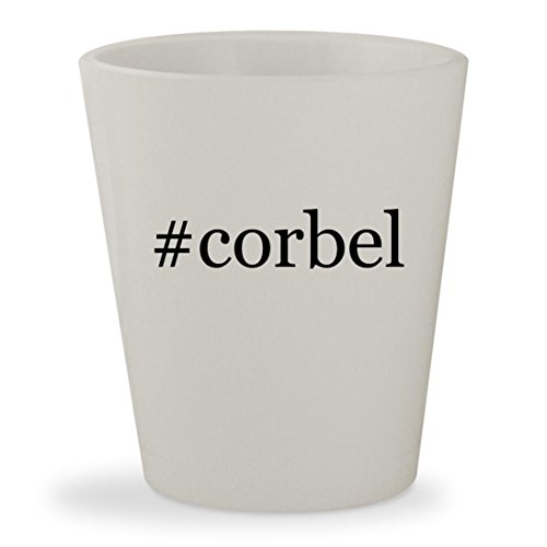 #corbel - White Hashtag Ceramic 1.5oz Shot Glass - Mission Oak Oak Game Table
