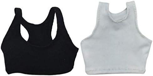 1//6 Scale Black Female Vest Waistcoat for 12/'/' Phicen Jodoll Action Figure