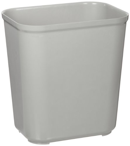 Rubbermaid Commercial Fire-Resistant Trash Can, 7 Gallon, Black, FG254300GRAY