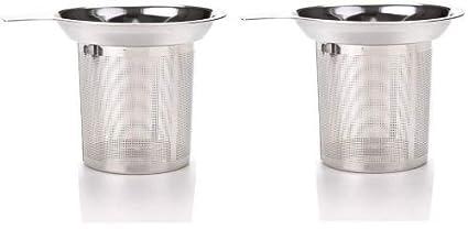 iNeith Infusor de Té Infusores de Té con Mango Acero Inoxidable para Las Tazas y Los Potes Flojos Del té Del Grano de La Hoja Pack de 2