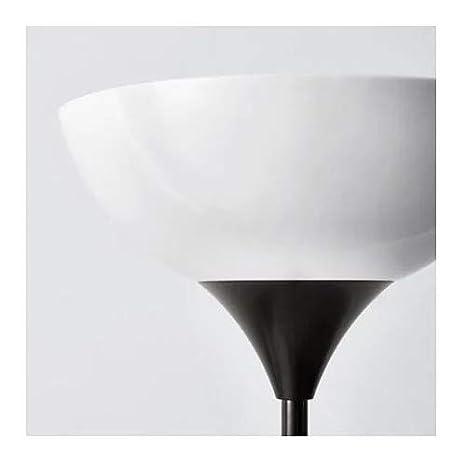 Ikea NOT – Lámpara de pie con lámpara de lectura plástico negro, 176 cm