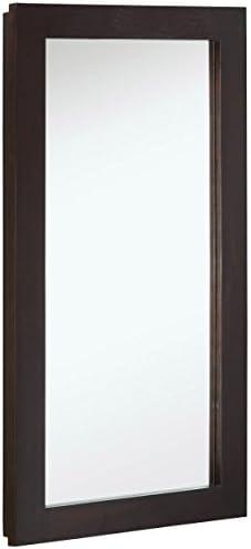 Design House 541326 Ventura 1-Door Medicine Cabinet Mirror 16 , Espresso, W x 30 H