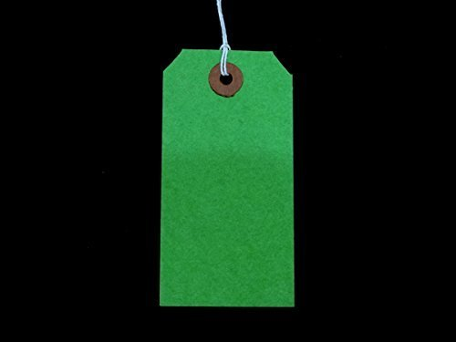 Ivy Green Strung Tags 108mm x 54mm Luggage Labels Tags Tickets Tie On String Labels by Ivy ()