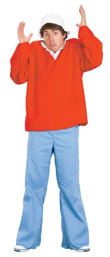 FunWorld Gilligan Island Costume, Red, One size - 80's Denim Costumes