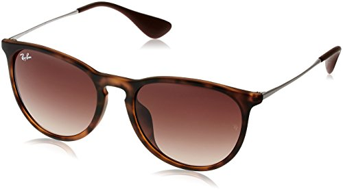 Ray-Ban Women's RB4171F Erika Sunglasses Avana Gommato / Brown Gradient - Ban Brown Ray Erika