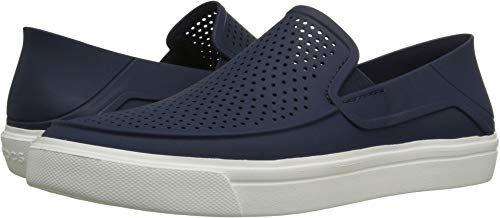 crocs Men's Citilane Roka Slip-On , Navy/White, 11 M US (Homes For Sale In City Beach Wa)