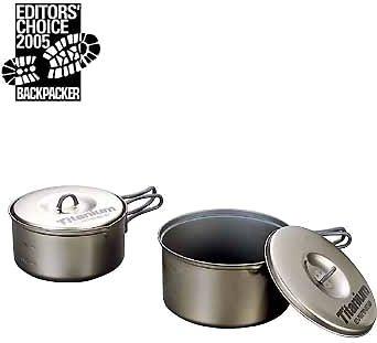Price comparison product image EVERNEW Titanium Non-Stick Medium Pot Set - ECA412