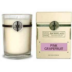 Archipelago Botanicals PINK GRAPEFRUIT CANDLE 50 Hour Aromatherapy Home Fragrance Signature Series All Natural Hand Poured Premium Soy Wax Jar Candle W/ Deluxe Gift Box
