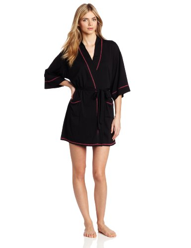 - Josie by Natori Sleepwear Womens Spicey Essentials Wrap, Black, X-Large