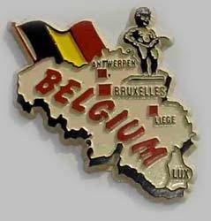 belgium refrigerator magnet - 1