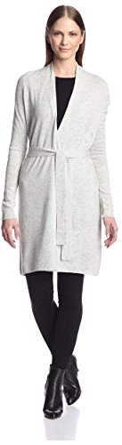 Acrobat Women's Belted Cardigan, Pebble, M - Belted Cashmere Sweater