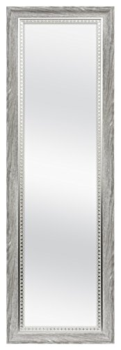 MCS 68877 Over The Door Mirror with Embossed Accent, 17x53 Inch Overall Size, Rustic Gray