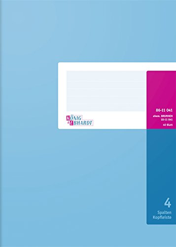 Konig & Ebhardt 8611041-7104K40KL - Cuaderno (A4, con columnas, 40 hojas)