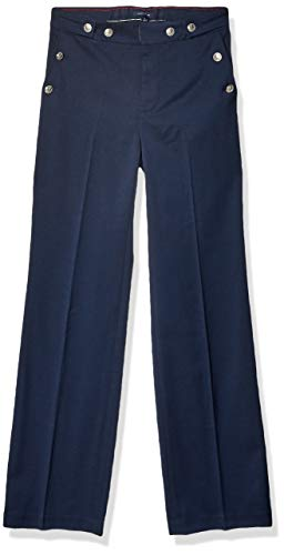 Tommy Hilfiger Women's Adaptive Wide Leg Pants with Elastic Waist, Masters Navy, 14