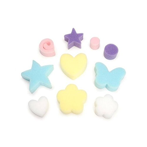 Darice Bulk Buy DIY Sponges Hearts and Stars Assorted Size 10 Pieces (6-Pack) 1035-43 by Darice
