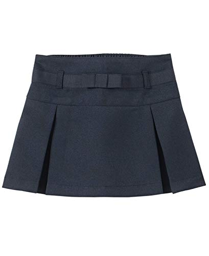 Nautica Girls' Toddler School Uniform Pleated Scooter with Pockets, Navy/Bow, 2T