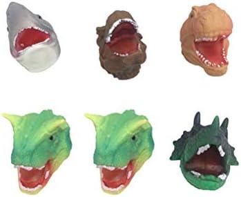 Toddmomy 6 stks dier vormige handpop dinosaurus krokodil kinderen handpop educatief speelgoed voor spelende kinderen willekeurige diversiteitpermil;