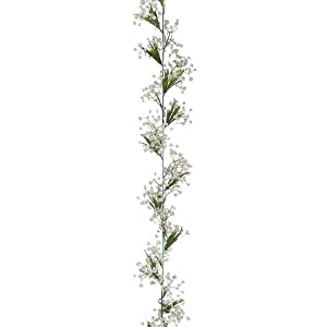 1pc, Gypsophila Artificial Baby's Breath Flower Garland in White - 6' Long 7